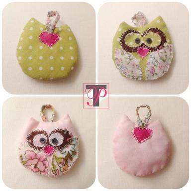 Techie Princesa Owl Keychain