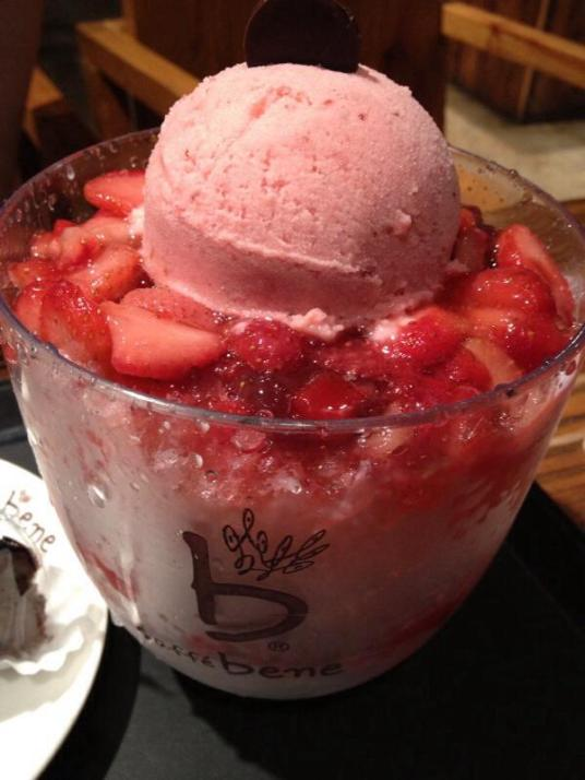 Strawberry Shaved ice, Caffe Bene