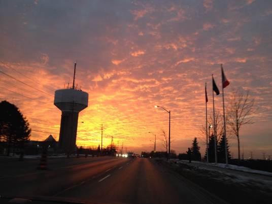 Beautiful sky, Toronto