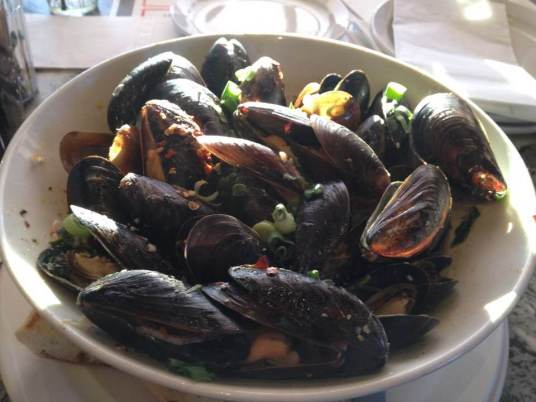 Mussels at The Symposium Cafe