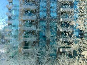 Frozen window, Winter, Canada