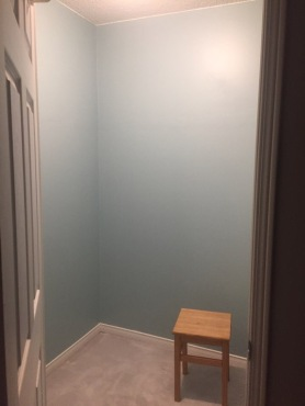 Empty room, ready to build a closet