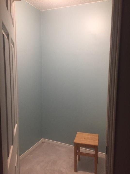 Empty room, ready to build a closet