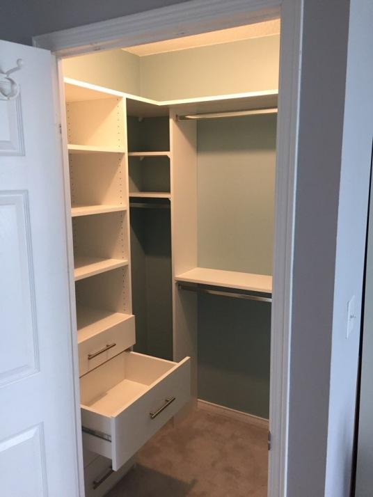 Picture of a walk-in closet, condo
