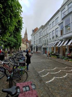 Sarah exploring Bruges, Belgium